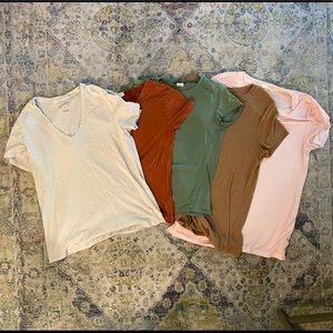Bundle of 5 Fall Tee Shirts Gap, Wetseal, Mossimo